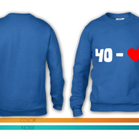 tennis - 40 - LOVE (2 colors) - tennis-shirts.net crewneck sweatshirt
