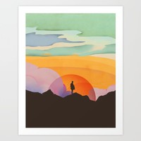 I Like to Watch the Sun Come Up Art Print by Amelia Senville
