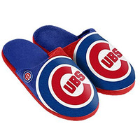 MLB Chicago Cubs Split Color Slide Slipper, Small, Blue