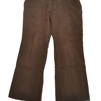 Brown Chino Pants by Duo Maternity