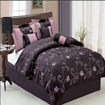 Covington Purple 11 Piece Bed in a Bag