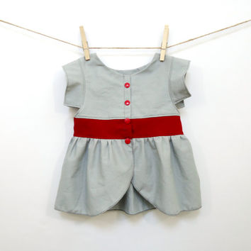 Girls Minimalist Peplum Top CUSTOM MADE Modern Baby any size and colors