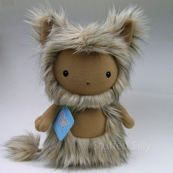 Plush Monster Toy, Cute Stuffed Animal, Forest of Fru Series: Penelope, Soft Art Doll, Open Edition, 10 3/4 inches tall