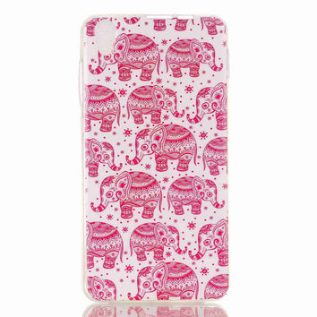 Cute Pink Elephant creative case Cover for iPhone & Galaxy