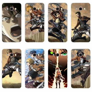 Cool Attack on Titan  Picture the cover of mobile phone case TPU for Samsung Galaxy S6 S6edge S6Plus A7 S7edge S8 S9 Plus   J5 J7 2016 AT_90_11