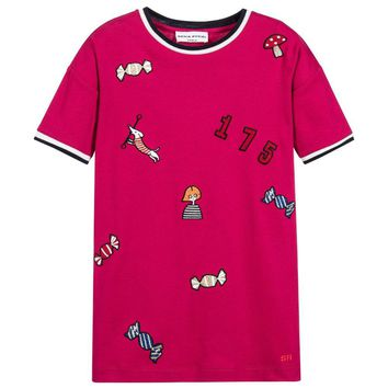 Sonia Rykiel Girls Pink Dress with Patches