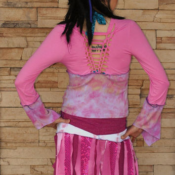 LittLe PinK EcO FeStiVaL ToP with Hand by IntergalacticApparel