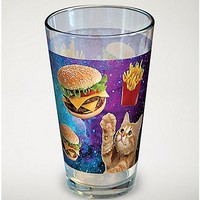 Cat Burger Galaxy Pint Glass - 16 oz - Spencer's