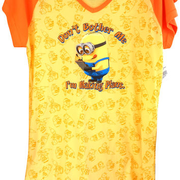 Authentic Despicable Me Minions Dave Adult Nightshirt (One Size) Universal NEW