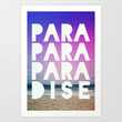 PARADISE Art Print by Leah Flores Designs | Society6