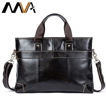 Leather Laptop Bag Briefcase Male Genuine Leather Handbags Tote Men Messenger Bags Business Briefcases bag men for documents