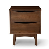 Culla Walnut 2 Drawer Nightstand