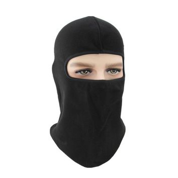 Balaclava Winter Ski Motorcycle Cycling Polar Fleece Full Face Mask Neck Scarf Windproof Hat