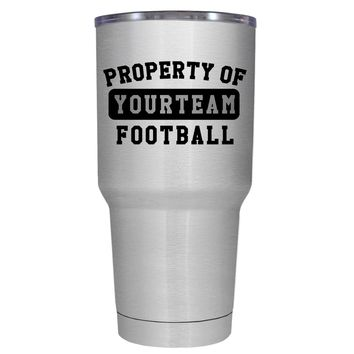 TREK Property of Football Personalized 30 oz Tumbler Cup