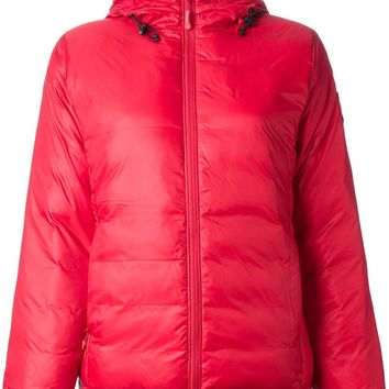Canada Goose' Camp Down Hooded Jacket - Women's Small - Red / Black