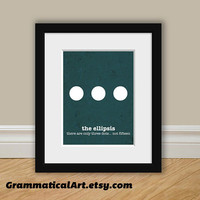 Funny Grammar Print  Ellipsis Usage  Perfect by GrammaticalArt