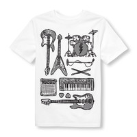 Boys Short Sleeve Music Instruments Graphic Tee | The Children's Place