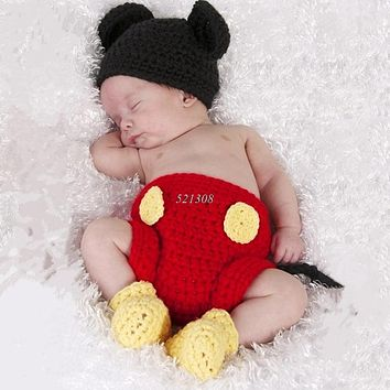 Newborn Baby Girls Boys Crochet Knit Costume Photography Prop Outfits
