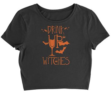 Drink Up Witches Cropped T-Shirt