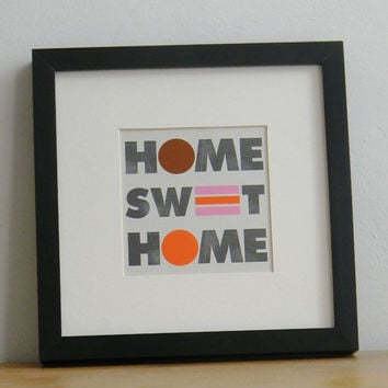 "Home decor, Home sweet home,  Inspirational poster , Wall decor, Quote Print, Typography poster, Quote wall art, IKEA RIBBA frame, 5"" X 5"""