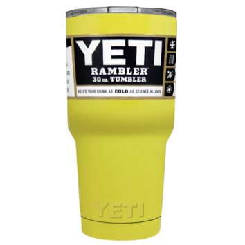 Promotional YETI 30 oz Yellow Gloss Custom Tumbler