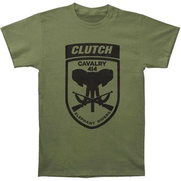 Clutch Men's  Elephant Riders Olive T-shirt Green