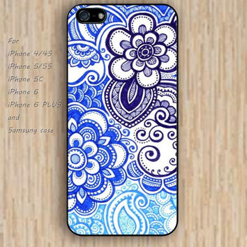 iPhone 5s 6 case cartoon Blues flowers patterns Dream colorful phone case iphone case,ipod case,samsung galaxy case available plastic rubber case waterproof B491