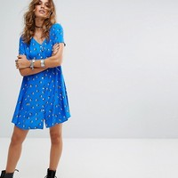 Reclaimed Vintage Inspired Button Front Tea Dress at asos.com