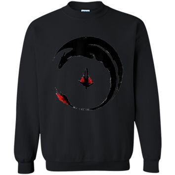 ++hiccup-and-toothless-how-to-train-your-dragon-- Printed Crewneck Pullover Sweatshirt