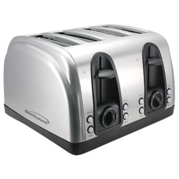 Brentwood 4-slice Elegant Toaster With Brushed Stainless Steel Finish
