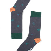 Altru Apparel Nautical Wheel pattern socks