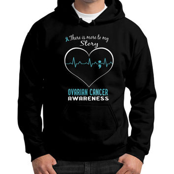 Ovarian cancer awareness Gildan Hoodie (on man)
