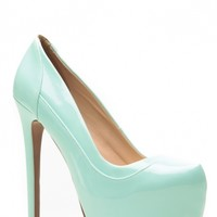 Qupid Patent Mint Layered Platform Heels @ Cicihot Heel Shoes online store sales:Stiletto Heel Shoes,High Heel Pumps,Womens High Heel Shoes,Prom Shoes,Summer Shoes,Spring Shoes,Spool Heel,Womens Dress Shoes