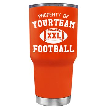 TREK Custom Property of Team Football on Vermilion 30 oz Tumbler Cup