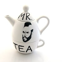 Mr. T  Tea Teapot Tea For One By Lennymud on Etsy