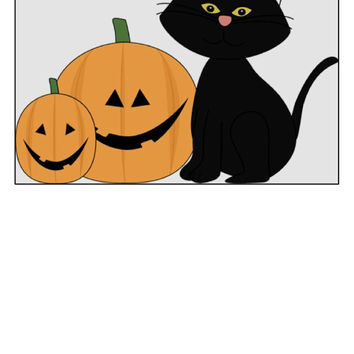 Instant Download, Happy Halloween, Spooky, Black Cat, Jack O Lantern, Halloween Decor,  PDF Pattern, Cross Stitch Pattern