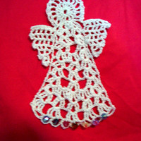 Angel Oranamnet, Angel Bookmark, Crochet Angel Your Choice Of One