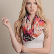 Bright Ikat Print Infinity Scarf - Red