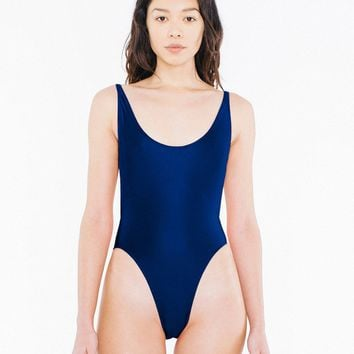 The Nylon Tricot High-Cut One-Piece   American Apparel