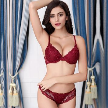 Lace Sexy Underwear Ladies Bra Set [6757931139]