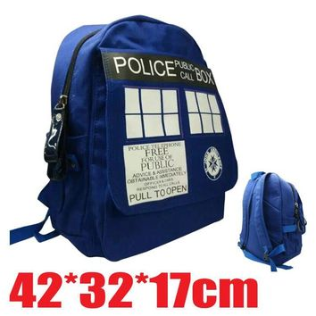 Doctor Dr Who Tardis Backpack Bag Good Quality In Stock shoulder bag
