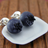 $15.50 Blueberries  Studs / Post Earrings by shayaaron on Etsy