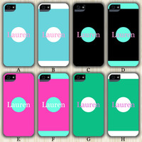 Yound Fashion Color Monogram Design iPhone 6/5S/5C/5/4S/4 Wrap Case and Tough Case