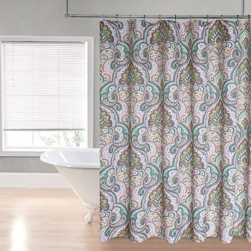 "Royal Bath Casablanca Water Repellant Fabric Shower Curtain -70"" x 72"""