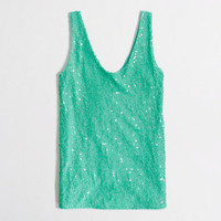 Factory sequin v-neck tank