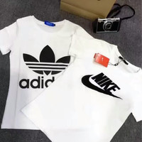 """Adidas"" ""Nike"" Fashion Casual Letter Print Short Sleeve Set Two-Piece Sportswear"