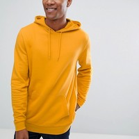 ASOS Longline Hoodie in Yellow at asos.com