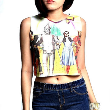 The Wizard of Oz crop top tank women S M L