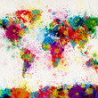Map of the World Map Paint Splashes Art Print by ArtPause | Society6