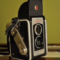 1955 Kodak Duaflex III Camera with Flash Attachment